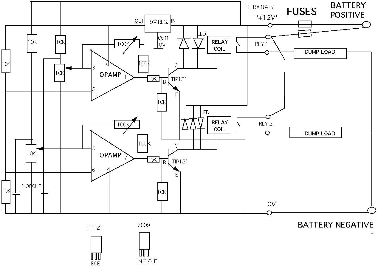 Charge Controllers Using Relays Or Pwm Type Hugh Piggotts Blog Relay Diagram Together With 12 Volt Wiring 5 Pole
